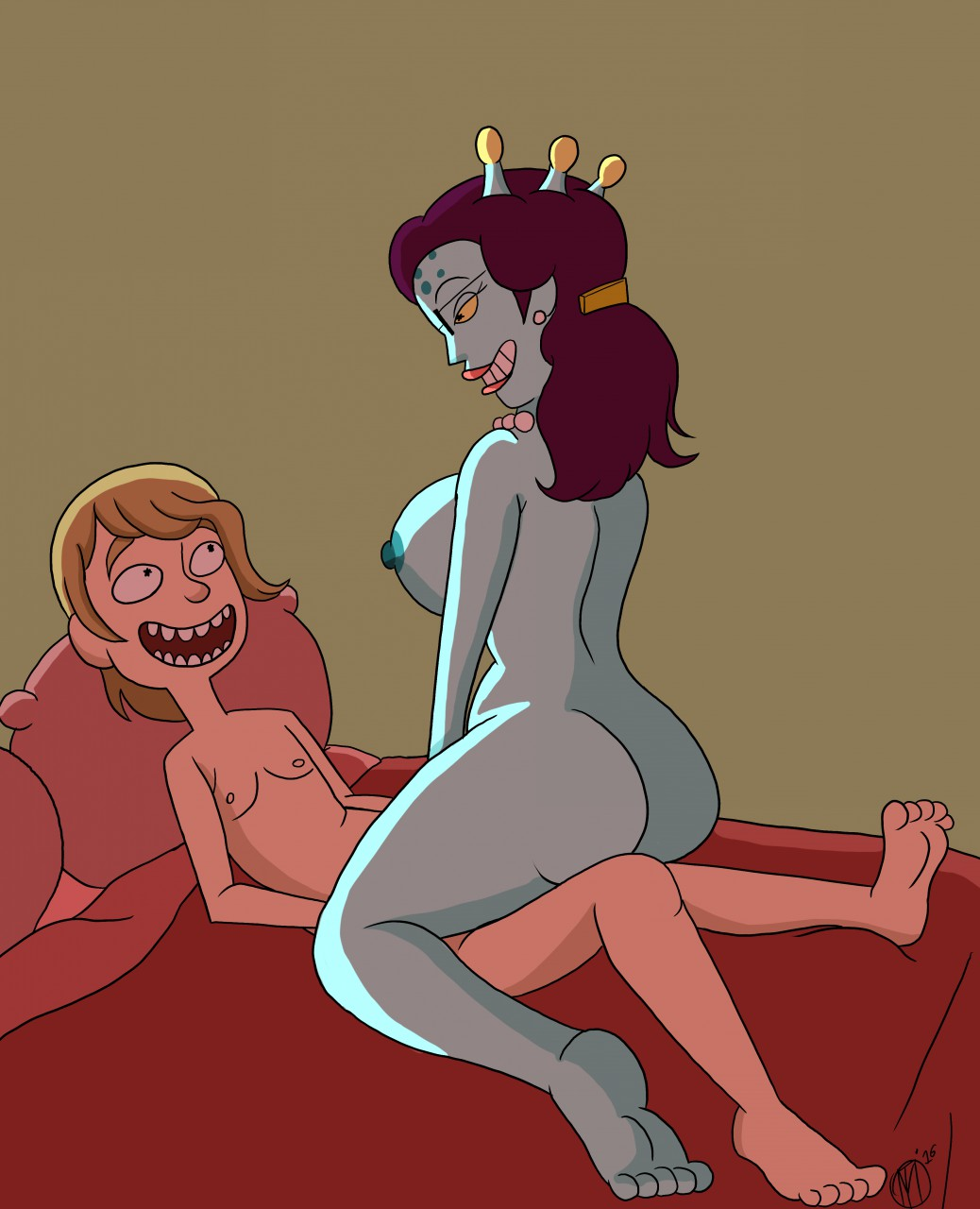 tits rick and morty summer My little sister is a futa
