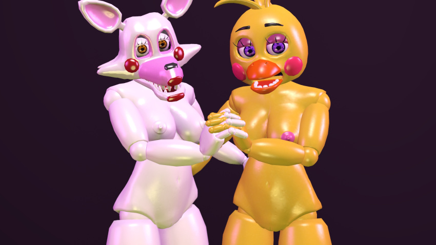 fnaf mangle chica toy and Conker's bad fur day plant